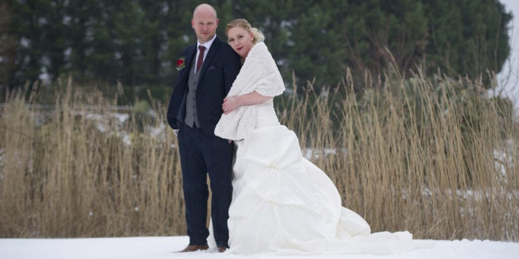 Snow at Batch Country House Wedding
